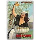 Pacifica Island Art Olio Radino Italian Olive Oil - Puro e Squisito (Pure and Delicious) - Vintage Advertising Poster by Gino Boccasile c.1948 - Master Art Print - 13in x 19in