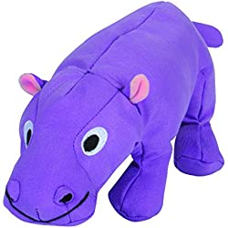 Smart Pet Love - Tender Tuffs - Big Shot - Tough Dog Toy - Proprietary TearBlok Technology - Plump Purple Hippo