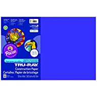 Pacon Tru-Ray Construction Paper, 12-Inches by 18-Inches, 50-Count, Purple (103051)