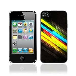 CQ Tech Phone Accessory: Carcasa Trasera Rigida Aluminio PARA Apple iPhone 4 4S - Cool Colors