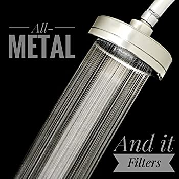 filtered shower head all metal shower filter that removes chlorine and reduces dissolved solids