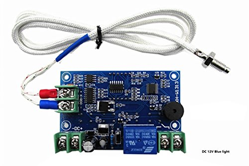 LM YN Digital Thermostat Module K-type DC12V -30℃ to 999℃ Temperature Controller Board Electronic Temperature Control Module Blue Digital Display ()