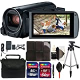 Canon VIXIA HF R800 HD Camcorder (Black) + 80GB Memory Card + Wallet + Lens Pen + Dust Blower + Case + Tall Tripod + 3pc Cleaning Kit