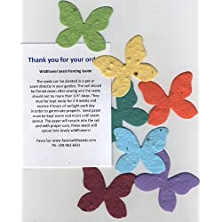 24 Plantable Mini Butterfly Seed Shapes in a Bag