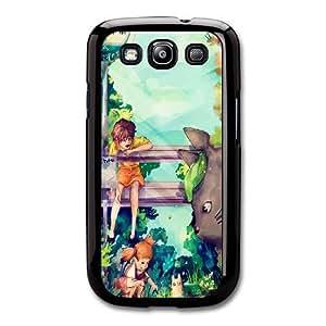 Duro Snap-On protectora funda por Samsung Galaxy S3 Negro [DHGDHJGJK4197] CUSTOM Mi Vecino Totoro tema Samsung Galaxy S3 funda