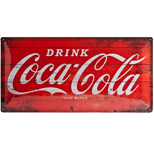 Coca Cola Red Logo large embossed steel sign (na 5025)