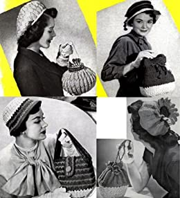 Amazon.com: Sombreros de Crochet Vintage con coincidencia de ...