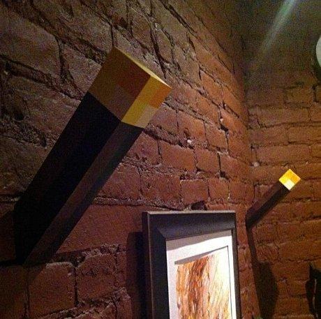2 x Minecraft Nacht Licht bis Wand montierbar Taschenlampe Lampe ...
