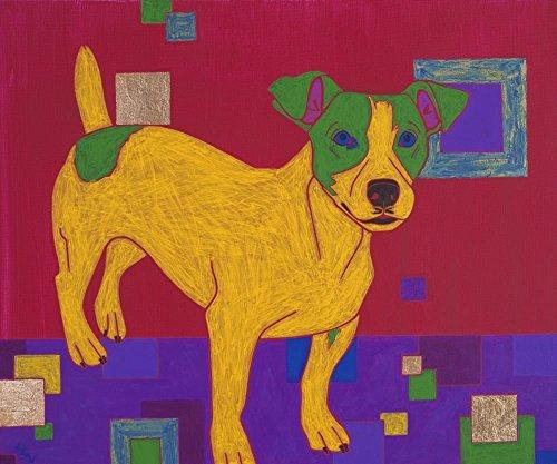 Humorous Jack Russell Art Print - Terrier Pop Art by Angela Bond (Jack Russell Terrier Prints)