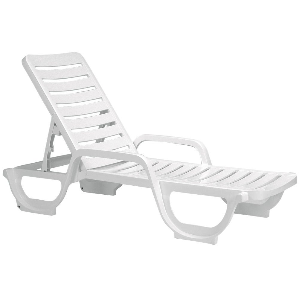 Amazon.com: Case Of 18 Grosfillex Bahia Stacking Adjustable Resin Chaise    White: Home U0026 Kitchen
