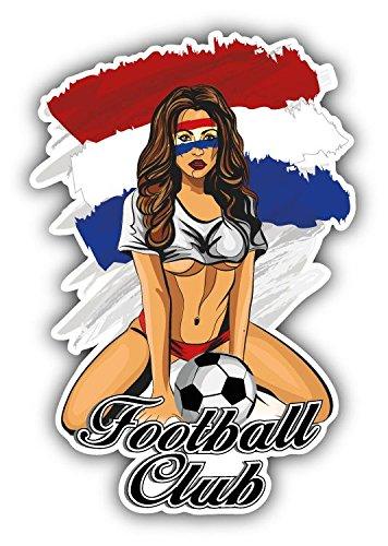 - Netherlands Flag Soccer Club Fan Girl Home Decal Vinyl Sticker 3'' X 5''