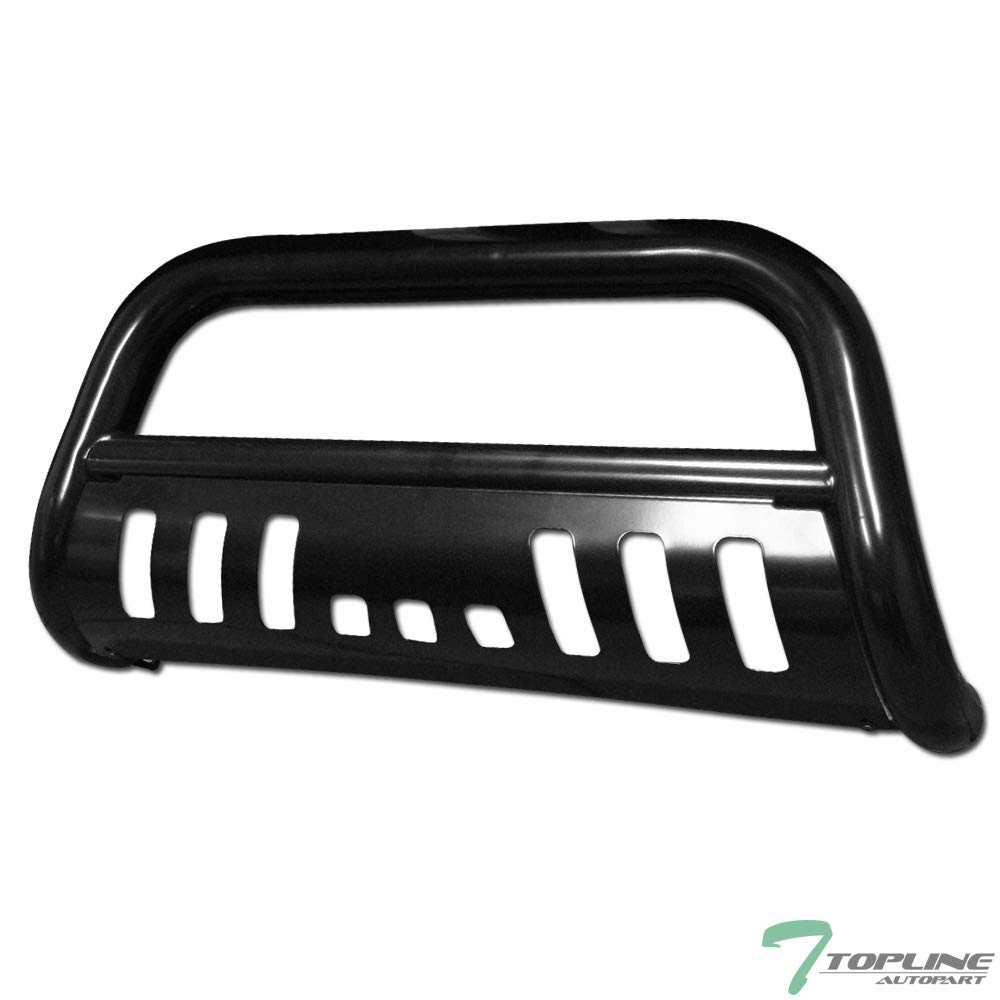 Topline Autopart Black HD Heavyduty Bull Bar Brush Push Front Bumper Grill Grille Guard w// Skin Plate 08-10 Jeep Grand Cherokee