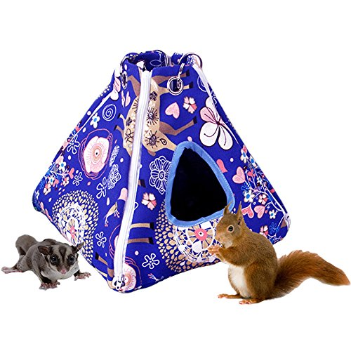 MUYAOPET Small Animal Hamster Hammock Bed Cage Hanging Guinea Pig Bed House Squirrel Rat Chinchilla (M, -