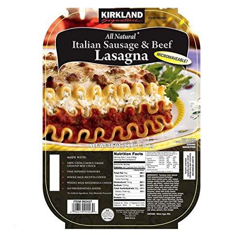Kirkland Signature Expect More Italian Sausage & Beef Lasagna, 2 x