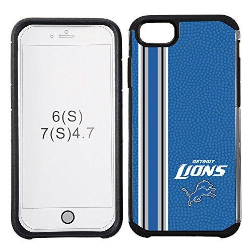 NFL Detroit Lions Vertical Stripes Football Pebble Grain Feel iPhone 7 Case