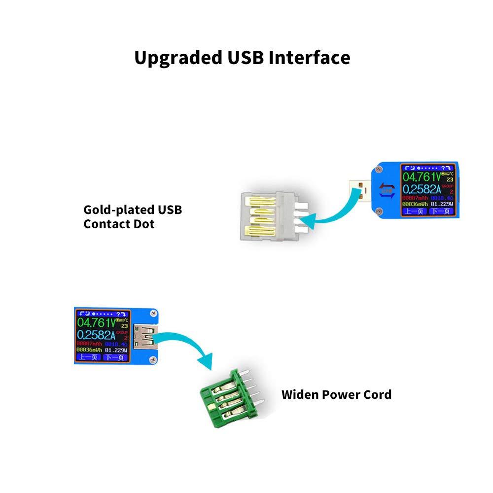 Amazon com: Grborn USB2 0 Tester Voltage Current BT Battery