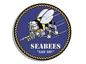 American Vinyl Round Seabees Can Do Seal Sticker (Logo Construction ncf Navy Insignia) from American Vinyl