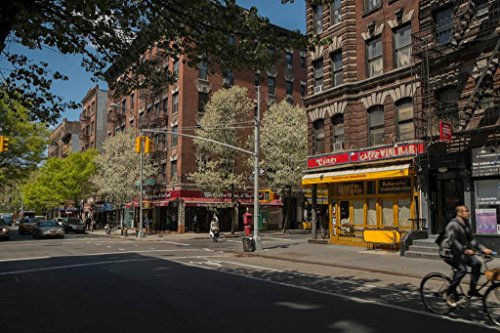 Street Scene in Greenwich Village New York City Photo Art Print Poster 36x24 inch (New York Post Standard)