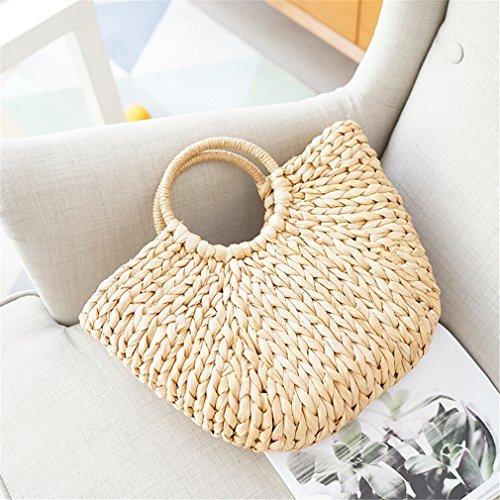 Tote Amuele Bag Large Bag Shoulder Women's Bag Tassel Straw Rattan Bucket Hand w1xqYr1U