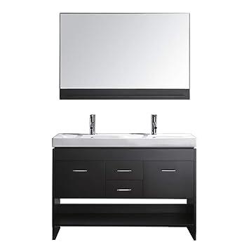 Virtu Usa Gloria 48 Inch Double Sink Bathroom Vanity Set In Espresso