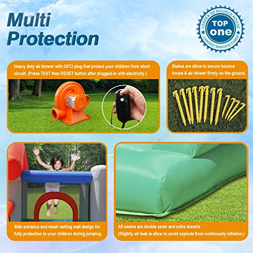 ACTION AIR Bounce House, Air Bouncer with 30 Ball, Inflatable Bouncer with Air Blower, Jumping Castle with Slide, for Outdoor and Indoor, Durable Sewn with Extra Thick Material, Idea for Kids by ACTION AIR (Image #4)
