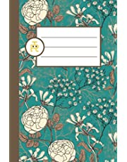 Green and Cream Peonies: Pretty Floral Notebook