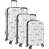 Nautica Men's Shipyard 3 Piece Hardside Suitcase Set, White