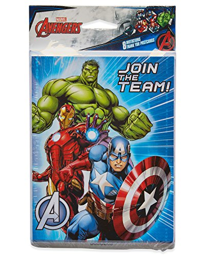 American Greetings Avengers Epic Party Supplies, Invite and Thank You Combo Pack, 8-Count]()