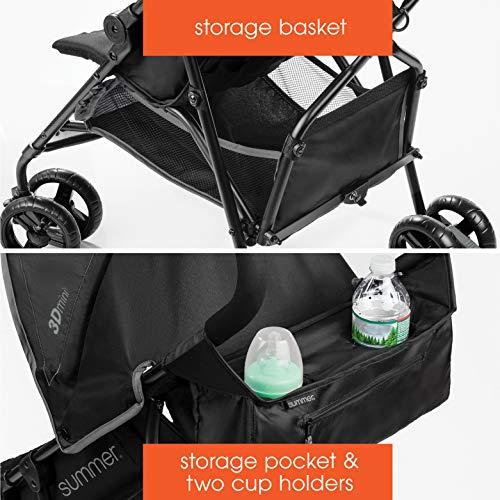 51SlpiRWojL - Summer Infant 3D Mini Convenience Stroller, Gray