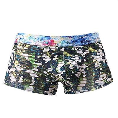 Stoota Men's Camouflage Translucent,Sexy Cozy Print Bulge Pouch Soft Underpants