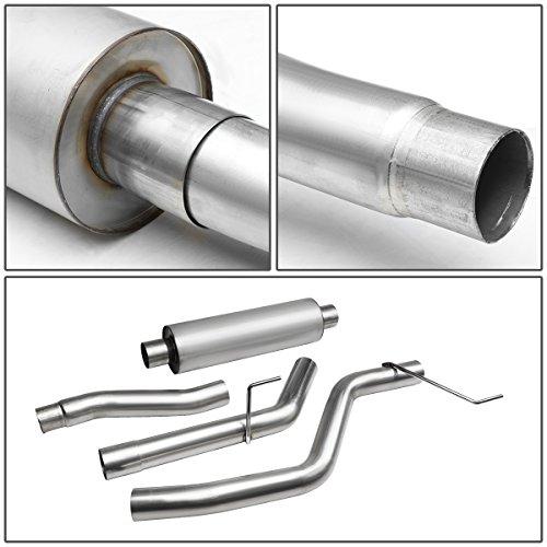 DNA Motoring CBE-FF00-NRT CBEFF00NRT Catback Exhaust System for 00-04 Ford Focus ZX3//ZX5