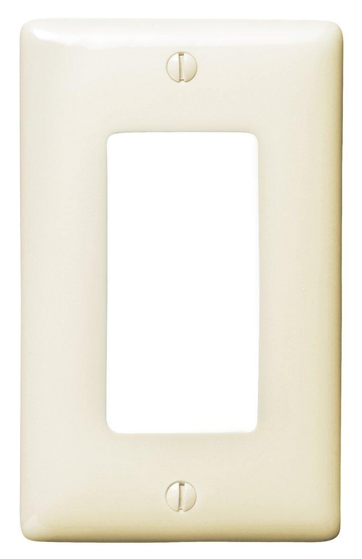 Bryant Electric NPJ26LA Wallplate, Nylon, Mid-Sized, 1-Gang, 1 Decorator/GFCI, Light Almond