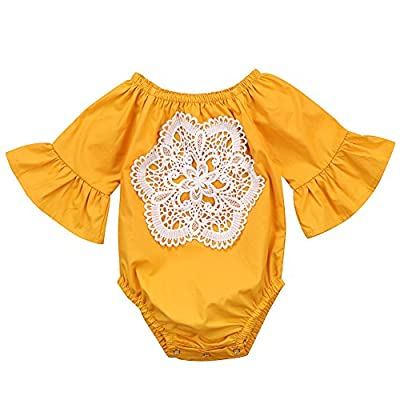 Ma&Baby Floral Newborn Kid Baby Girl Infant Romper Jumpsuit Bodysuit Clothes Outfit 0-24 M