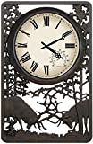 Battling Bull Elks Vertical Outdoor Clock
