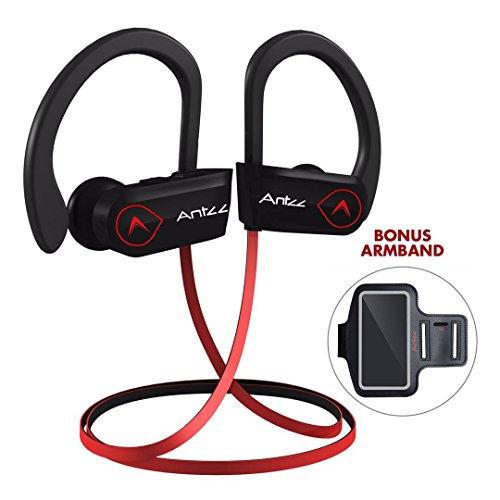 hot sale 2017 Wireless Headset Microphones Bluetooth Earbuds Antzz Earphones Waterproof Noise Cancelling Headphones for Gym Stereo Bluetooth Earbud 8 Hour Battery In-Ear Headphone for Sports Running