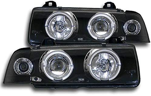 For 1992-1998 BMW E36 M3 3 Series Clear Lens Chrome Housing Fog Lights Lamps