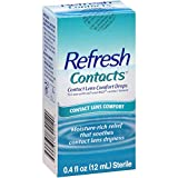 Refresh Contacts Contact Lens Comfort Moisture Drops - 0.4 oz, Pack of 6