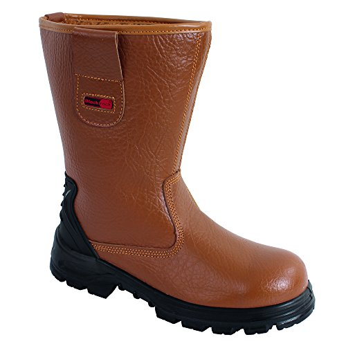 Blackrock Sf01B - Calzado de protección Para Hombre, Negro, 42 EU (8 UK) Amarillo (Tan)