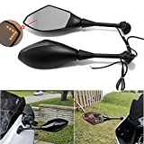 #7: Motorcycle Rearview Side Mirrors with LED Turn Signal Mirrors For Honda CBR 1000RR 600RR 250R Suzuki GSXR600 GSXR750