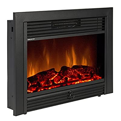 "28.5"" Embedded Fireplace Electric Insert Heater Glass View Log Flame Remote Home By MEE TONG SHOP"