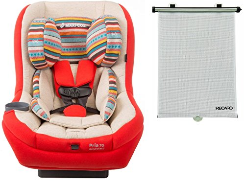 Maxi-cosi Pria 70 Convertible Car Seat in Bohemian Red with BONUS Retractable Window Sun Shade