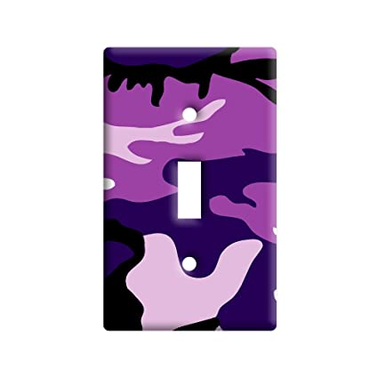 Purple Camouflage Army Soldier - Plastic Wall Decor Toggle Light ...