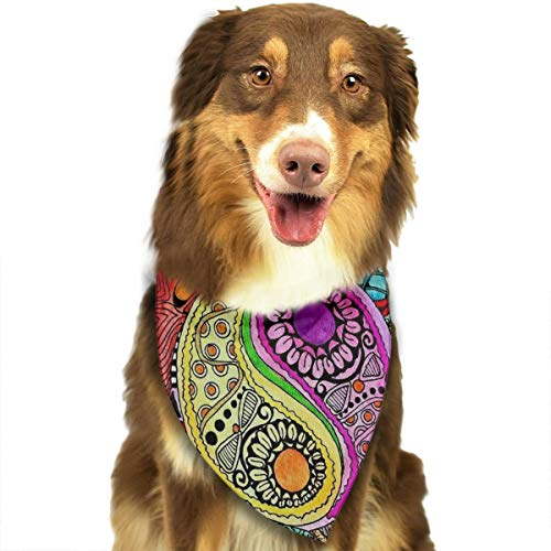 Hippie Mandala YinYang Bandana Triangle Bibs Scarfs Accessories For Pet Cats And Puppies]()
