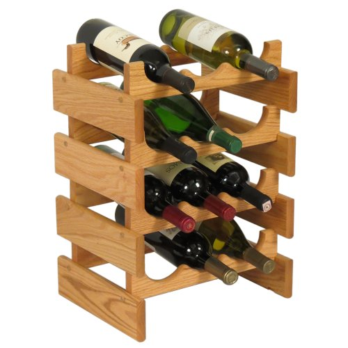FixtureDisplays 12 Bottle Dakota Wine Rack 104480!