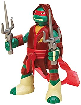 Tortugas Ninja - Figura Battle and Throw Raph, 15 cm (Giochi Preziosi 91620)