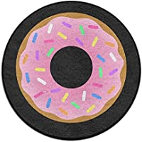 Circle Bathroom Rug Mat Flannel Extra Soft Shower Bath Rugs Shower Carpet Round Bath Mat Doughnut