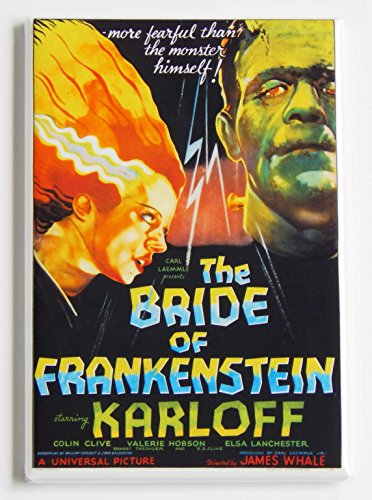 Bride of Frankenstein Movie Poster Fridge Magnet (2 x 3 inches) -