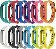 Vococal 12 Piezas Pulsera Mi Band 3 Correas Reloj Silicona Banda para Mi Band 3 Reemplazo - 12 Colores