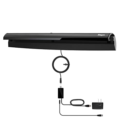 Balight HDTV Antenna, Amplified Indoor Digital TV Antenna with 50-80 Miles  Range, 1080P HD VHF UHF Free Channel Broadcast 10FT Coax Cable,Hook Design
