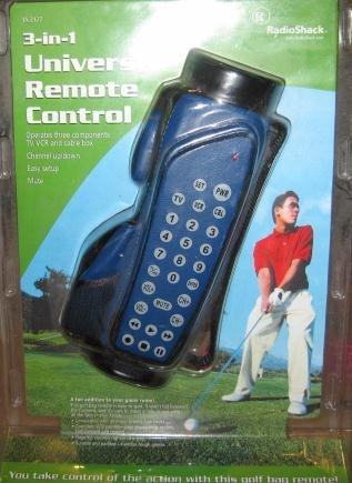 Radio Shack Golf Bag 3-in-1 Universal Remote Control